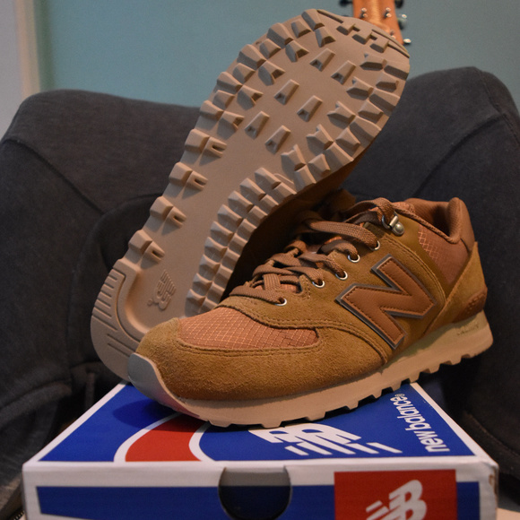 huge discount 690f5 f9a40 New Balance Shoes | Brand New 574 Suede Nutmeg Sand | Poshmark
